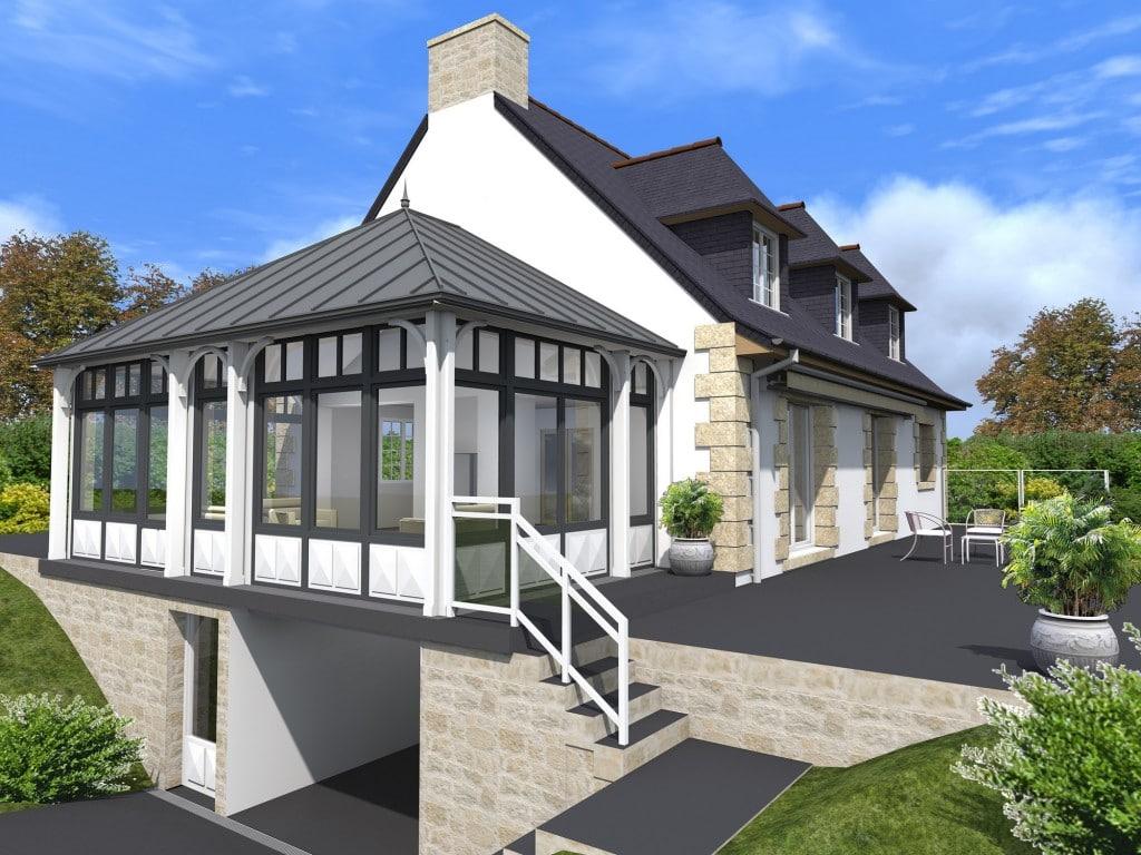 Archiplus - extension néo-bretonne toit zinc